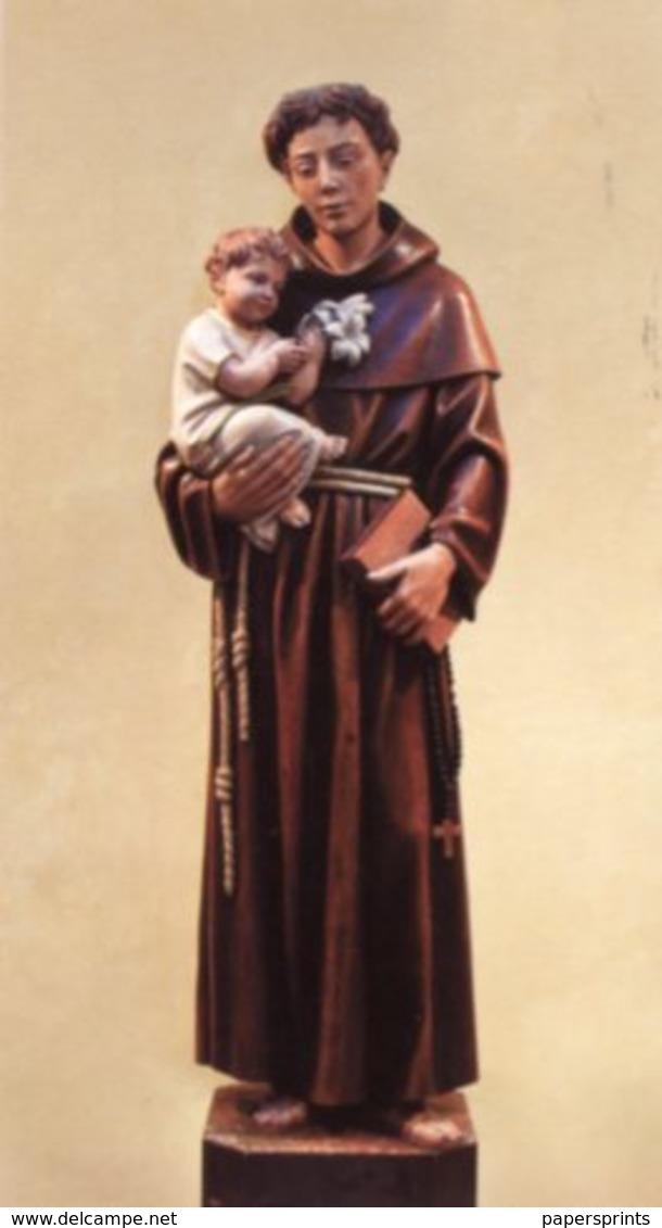 San Carlo Di Condofuti, Reggio C. - Santino SANT'ANTONIO DI PADOVA (Statua Lignea Di Virgilio Prugger)  - PERFETTO P89 - Religione & Esoterismo