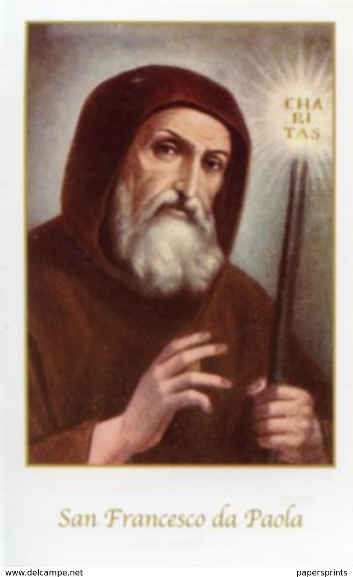Paola, Cosenza - Santino SAN FRANCESCO DI PAOLA  - PERFETTO P89 - Religione & Esoterismo