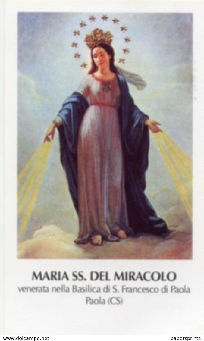 Paola, Cosenza - Santino MARIA SS DEL MIRACOLO, Basilica  - PERFETTO P89 - Religione & Esoterismo