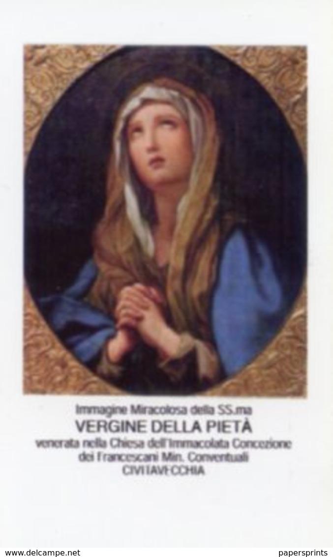 Civitavecchia, Roma - Santino VERGINE PIETÀ, RICORDO 50° ORDINAZIONE SACERDOTALE Fr. PIETRO PRESTININZI 1960-2010 - P89 - Religione & Esoterismo