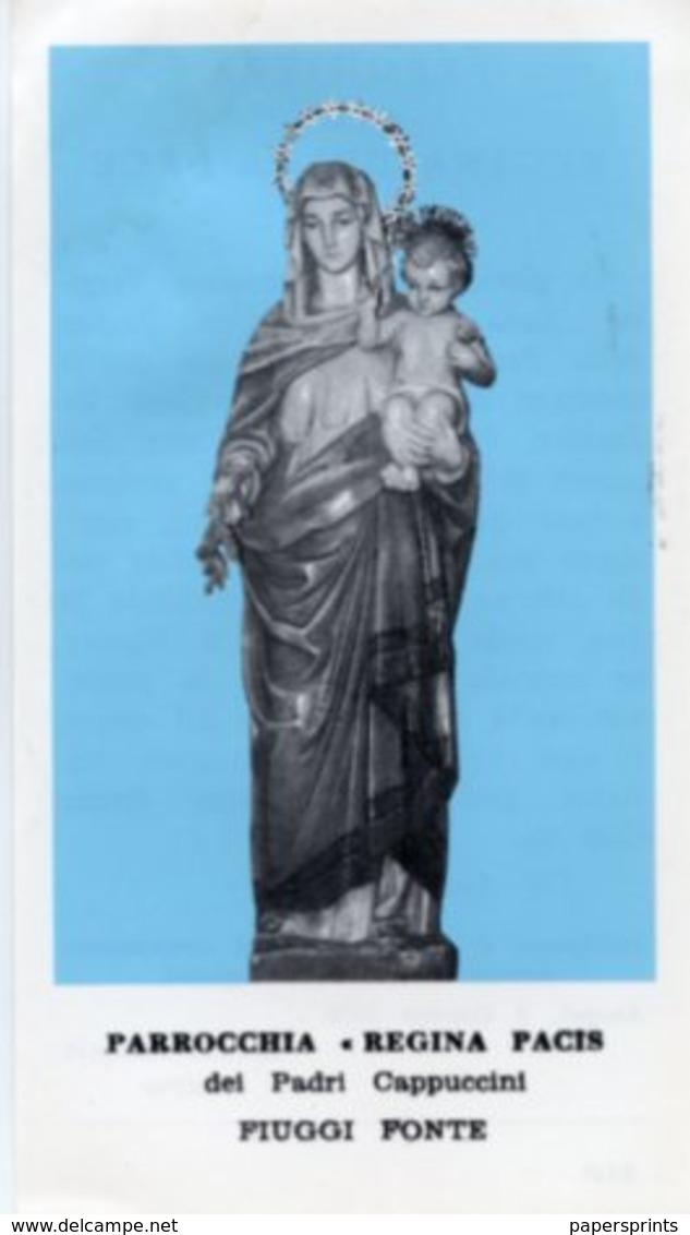 Fiuggi Ponte - Santino REGINA PACIS Dei Padri Cappuccini - PERFETTO P89 - Religione & Esoterismo