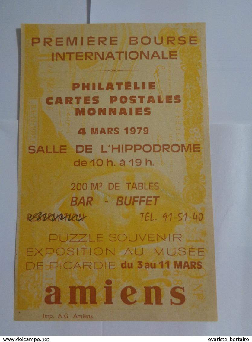 AMIENS : Première Bourse Internationale ,le 4 Mars 1979 - Amiens