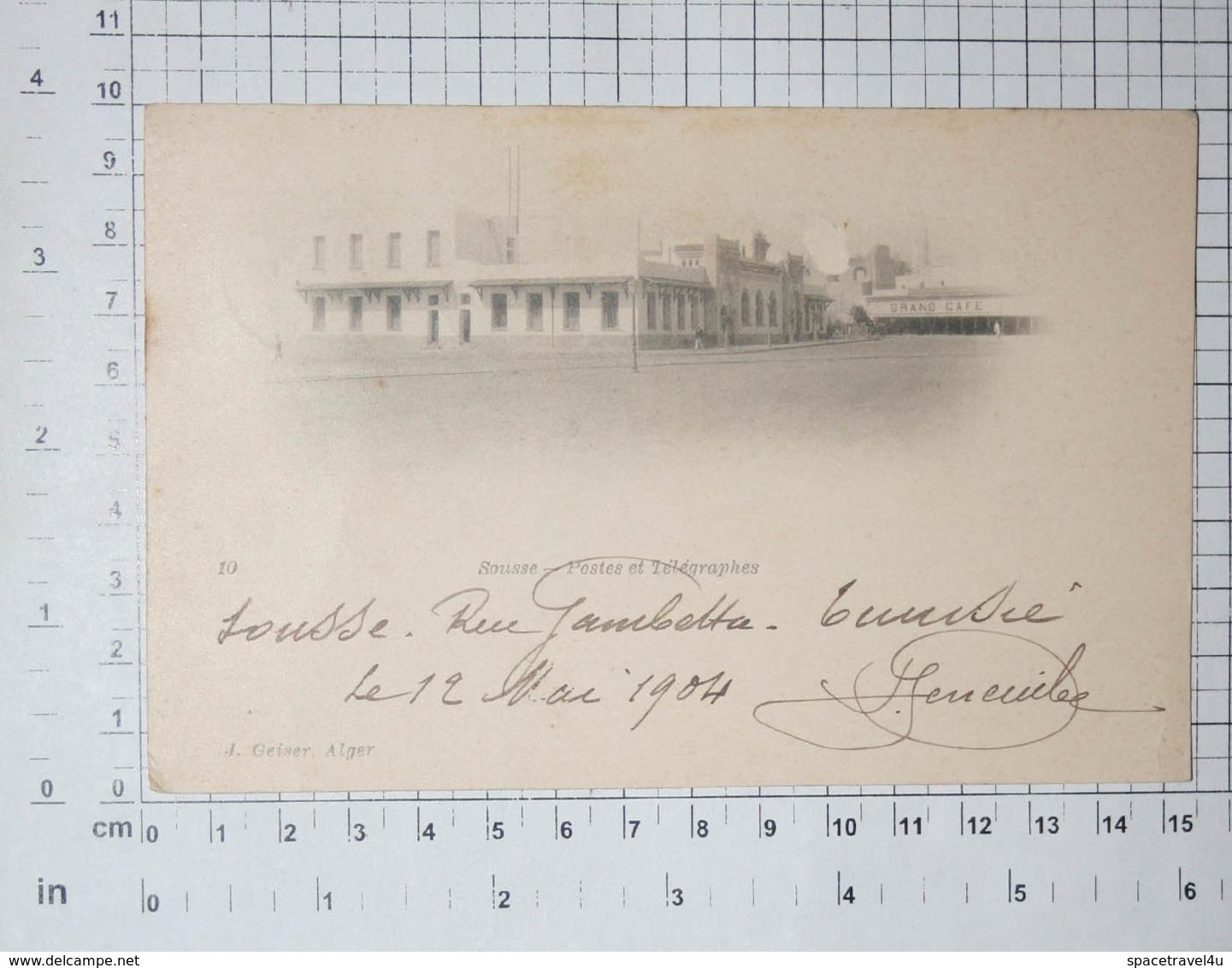 TUNISIA - Sousse, 1904. - Vintage Postcard - (APAT2-126) - Tunisia