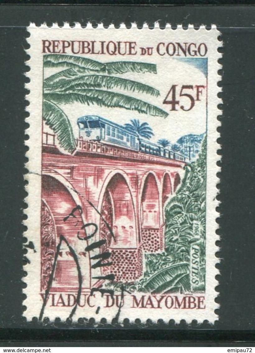 CONGO- Y&T N°219- Oblitéré (trains) - Congo - Brazzaville