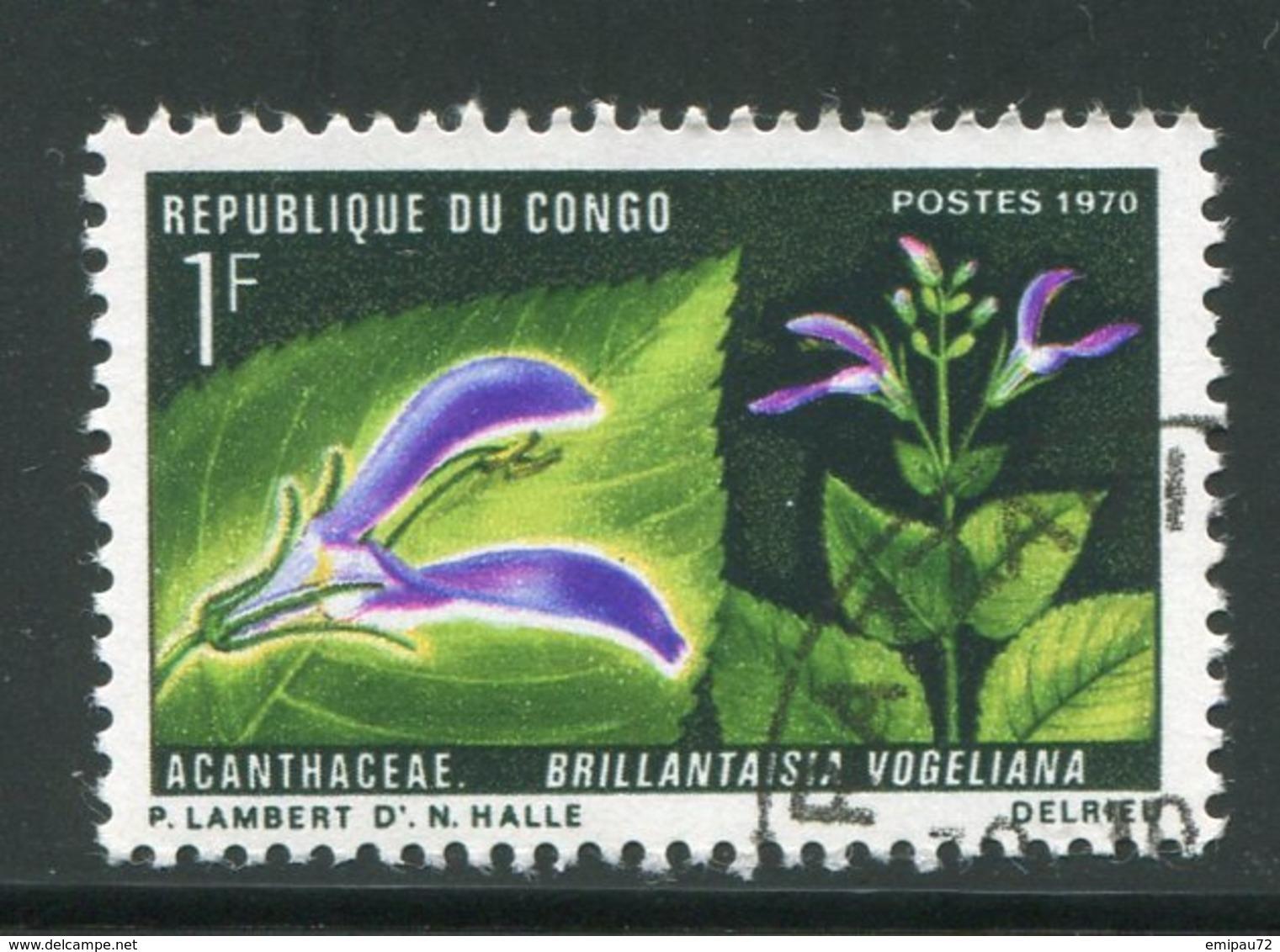CONGO- Y&T N°268- Oblitéré (fleurs) - Congo - Brazzaville