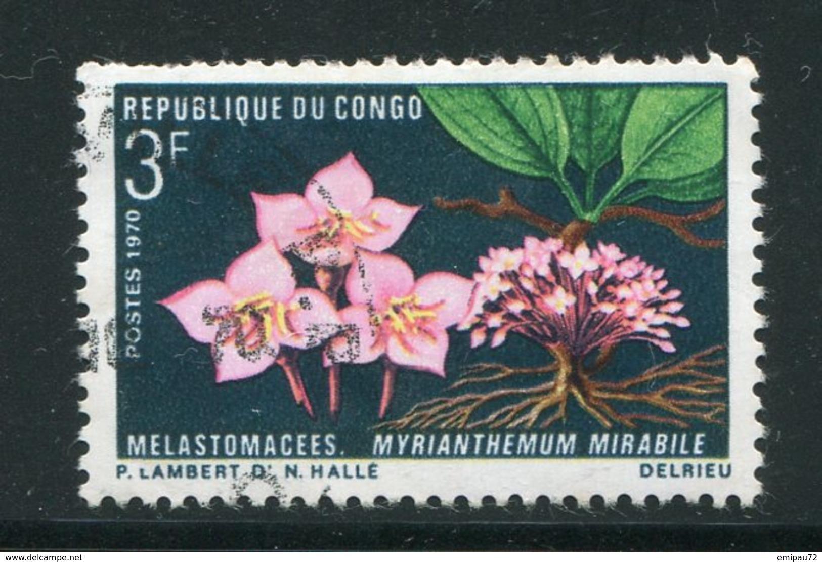 CONGO- Y&T N°270- Oblitéré (fleurs) - Congo - Brazzaville