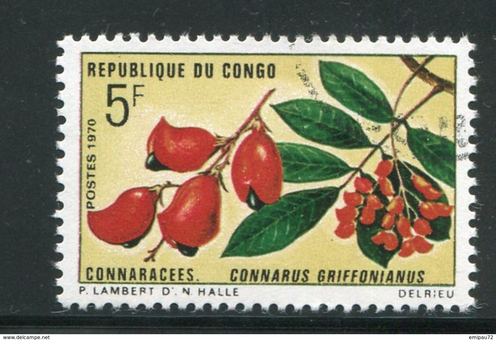 CONGO- Y&T N°271- Oblitéré (fleurs) - Congo - Brazzaville