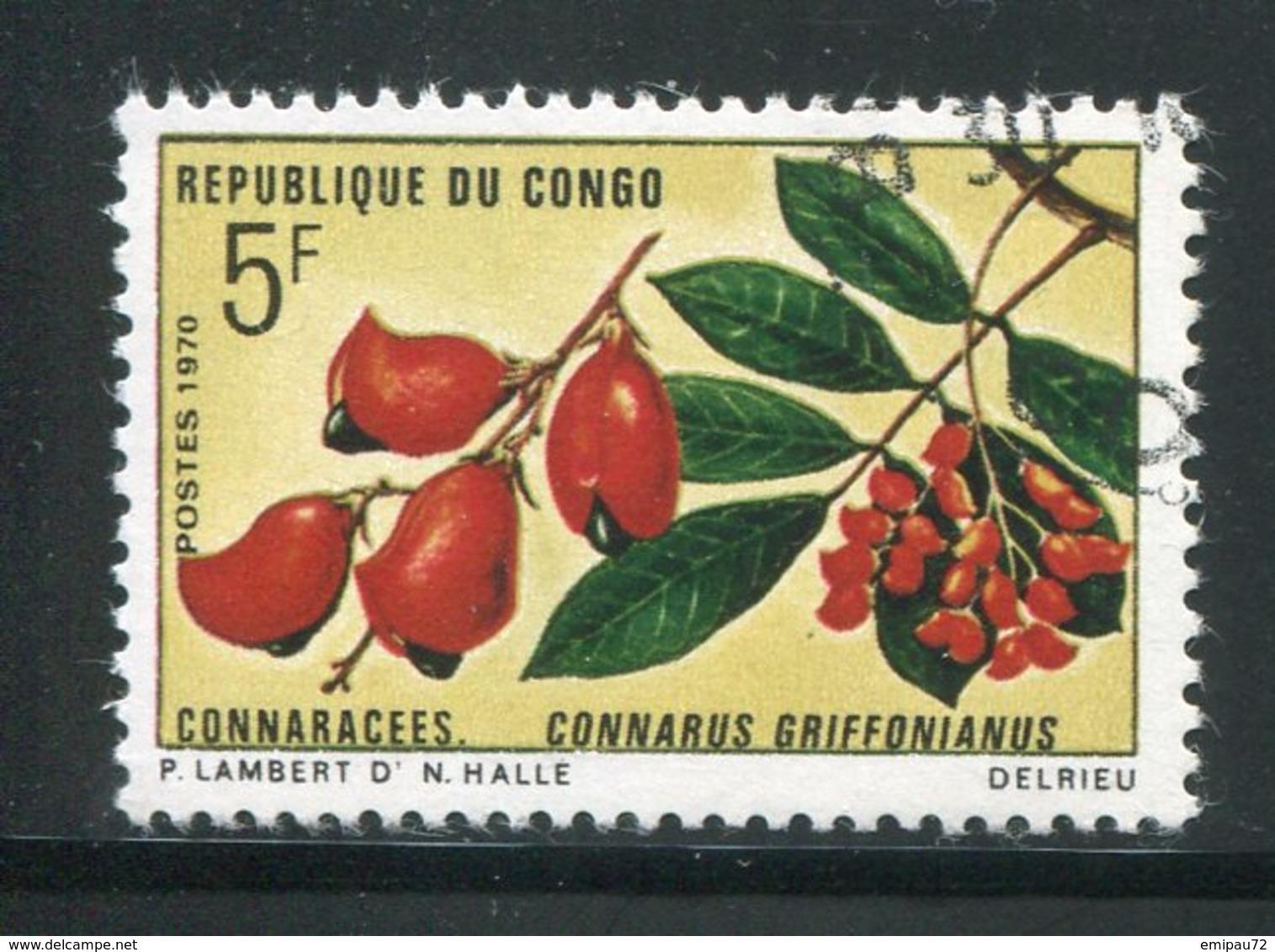 CONGO- Y&T N°271- Oblitéré (fleurs) - Oblitérés