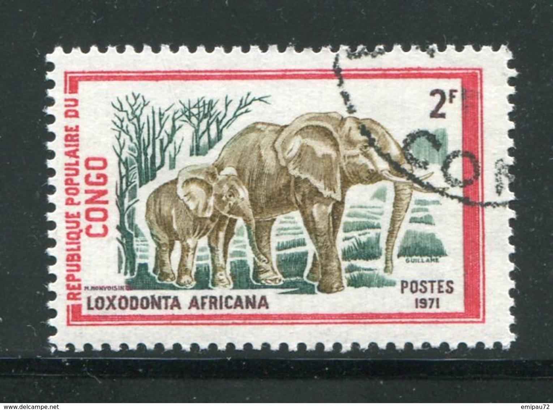 CONGO- Y&T N°319- Oblitéré (éléphants) - Congo - Brazzaville