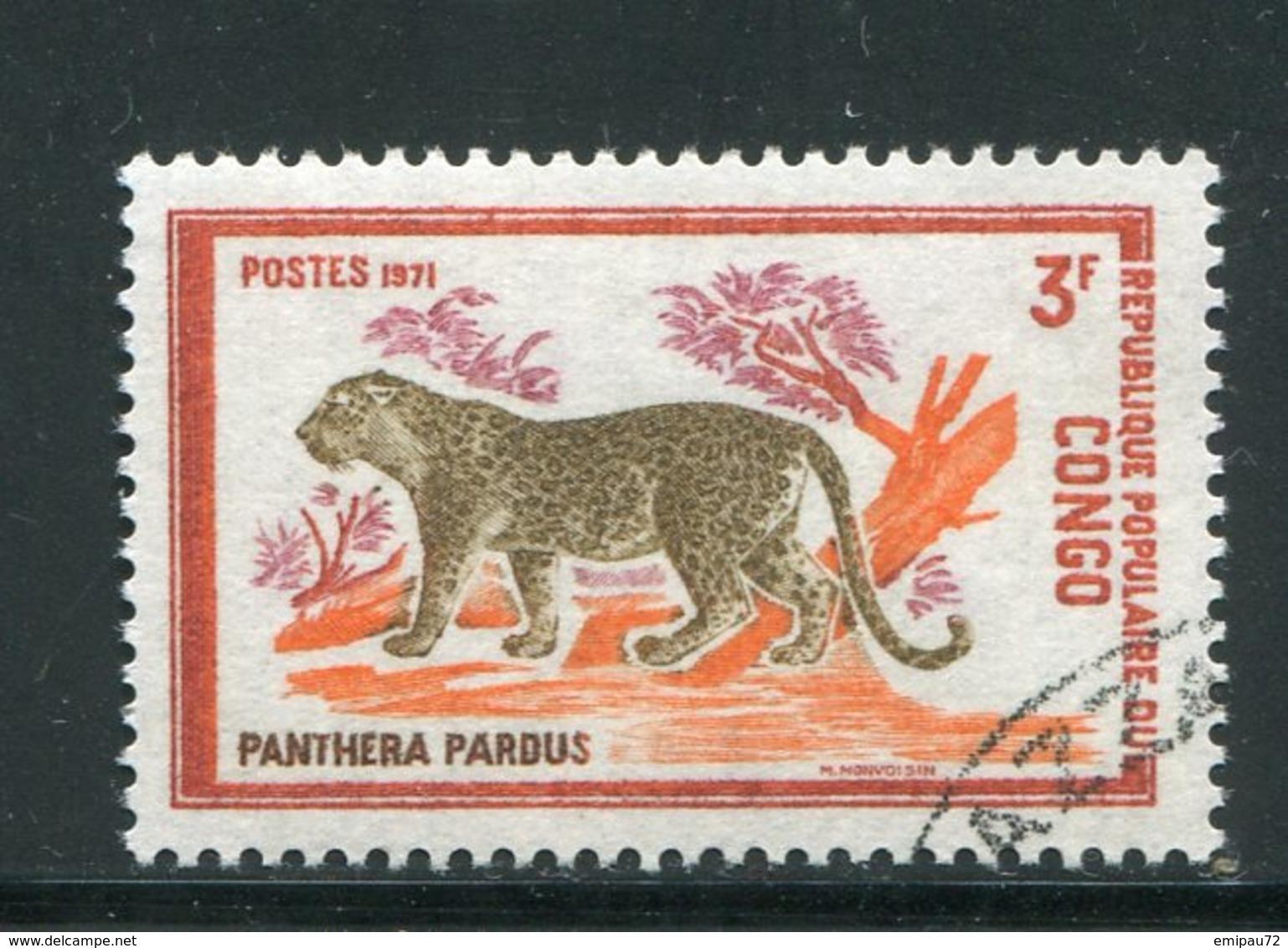 CONGO- Y&T N°320- Oblitéré (panthères) - Congo - Brazzaville