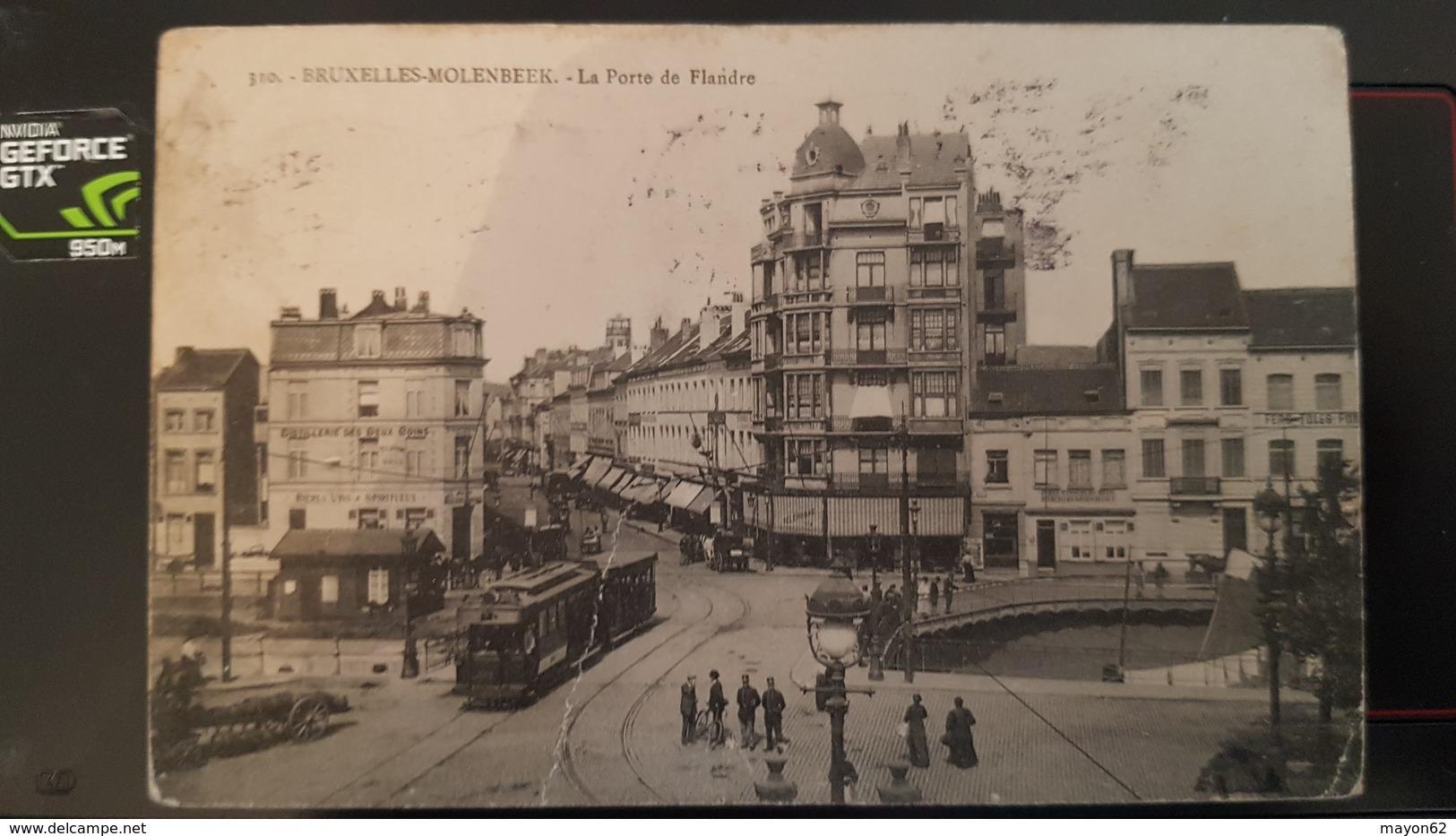 MOLENBEEK ST JEAN BRUXELLES  - LA PORTE DE FLANDRE - TRES ANIMEE TRAM TRAMWAY - Molenbeek-St-Jean - St-Jans-Molenbeek
