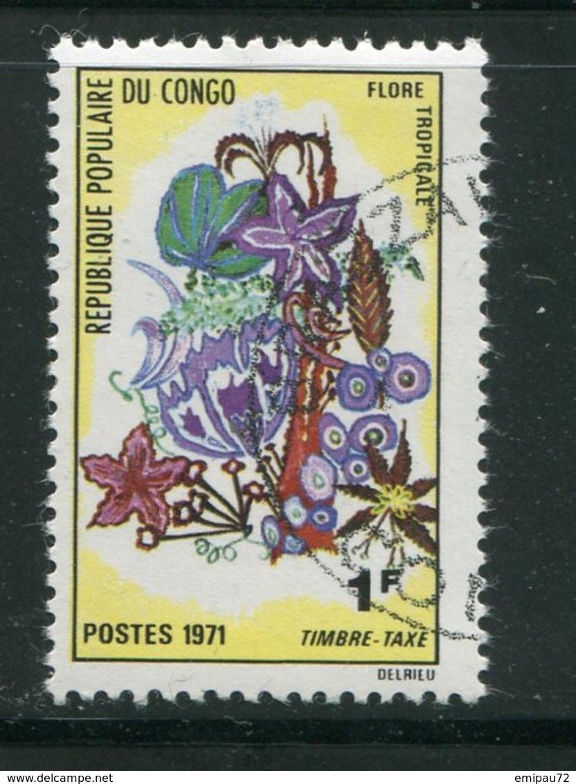 CONGO- Taxe Y&T N°46- Oblitéré (fleurs) - Oblitérés