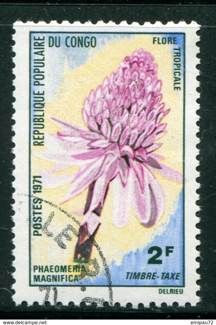 CONGO- Taxe Y&T N°47- Oblitéré (fleurs) - Oblitérés