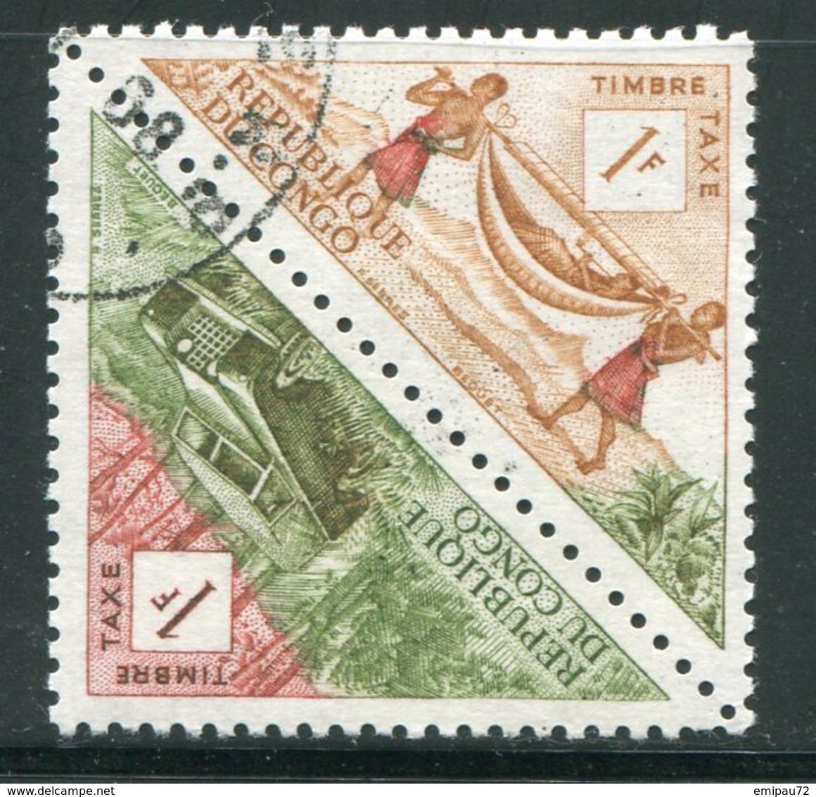 CONGO- Taxe Y&T N°36 Et 37- Oblitérés - Congo - Brazzaville