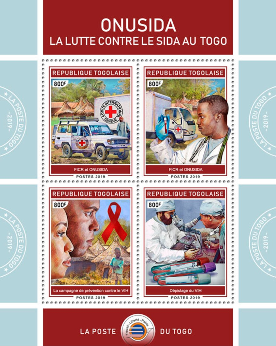 Z08 TG190134a TOGO 2019 AIDS In Togo MNH ** Postfrisch - Togo (1960-...)