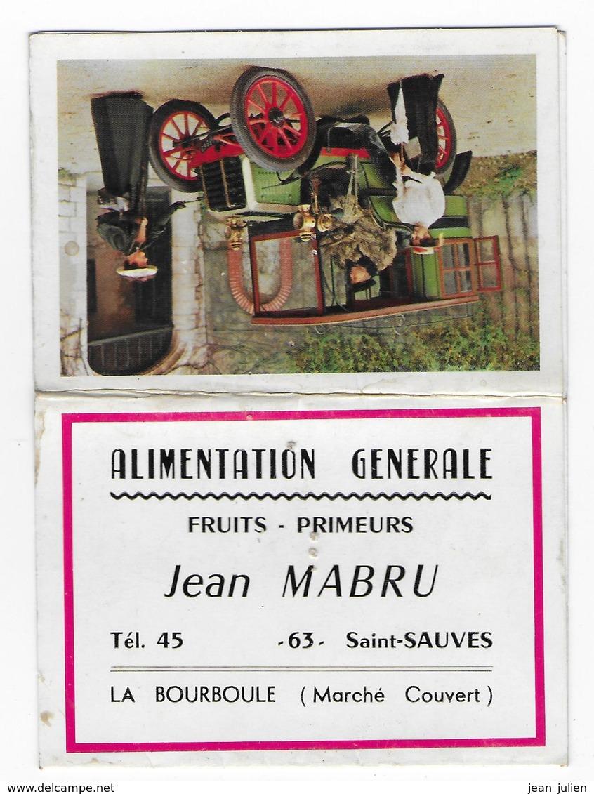 63 - SAINT SAUVES - CALENDRIER  - 1966  - J. MABRU - Alimentation - Format Poche - Petit Format : 1961-70