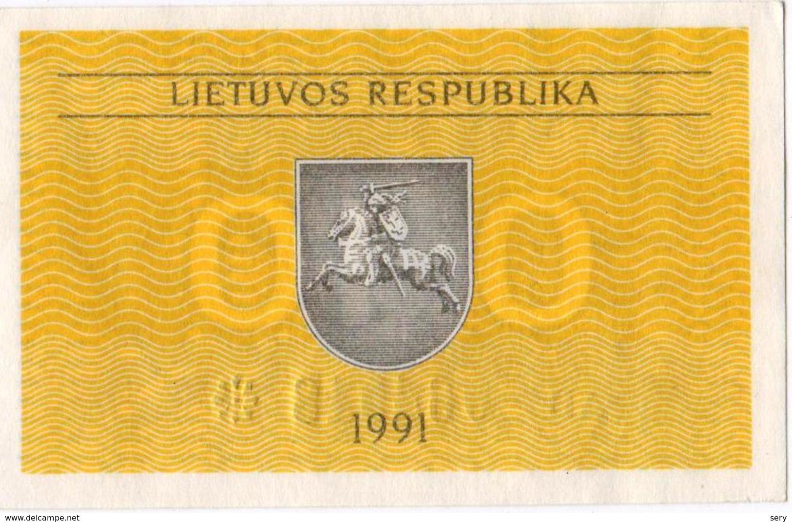 Lithuania 1991 0,1 Talonas UNC As Per Scan - Lituanie