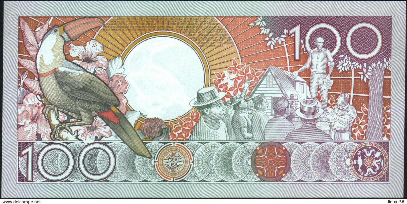 SURINAME - 100 Gulden 01.07.1986 UNC P.133 A - Surinam