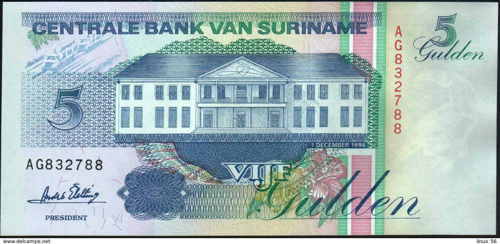 SURINAME - 5 Gulden 01.12.1996 UNC P.136 B - Surinam
