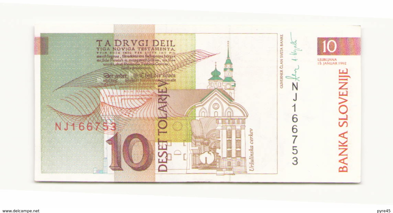 Slovénie 1992 Billet De 10 Tolarjev - Slovénie