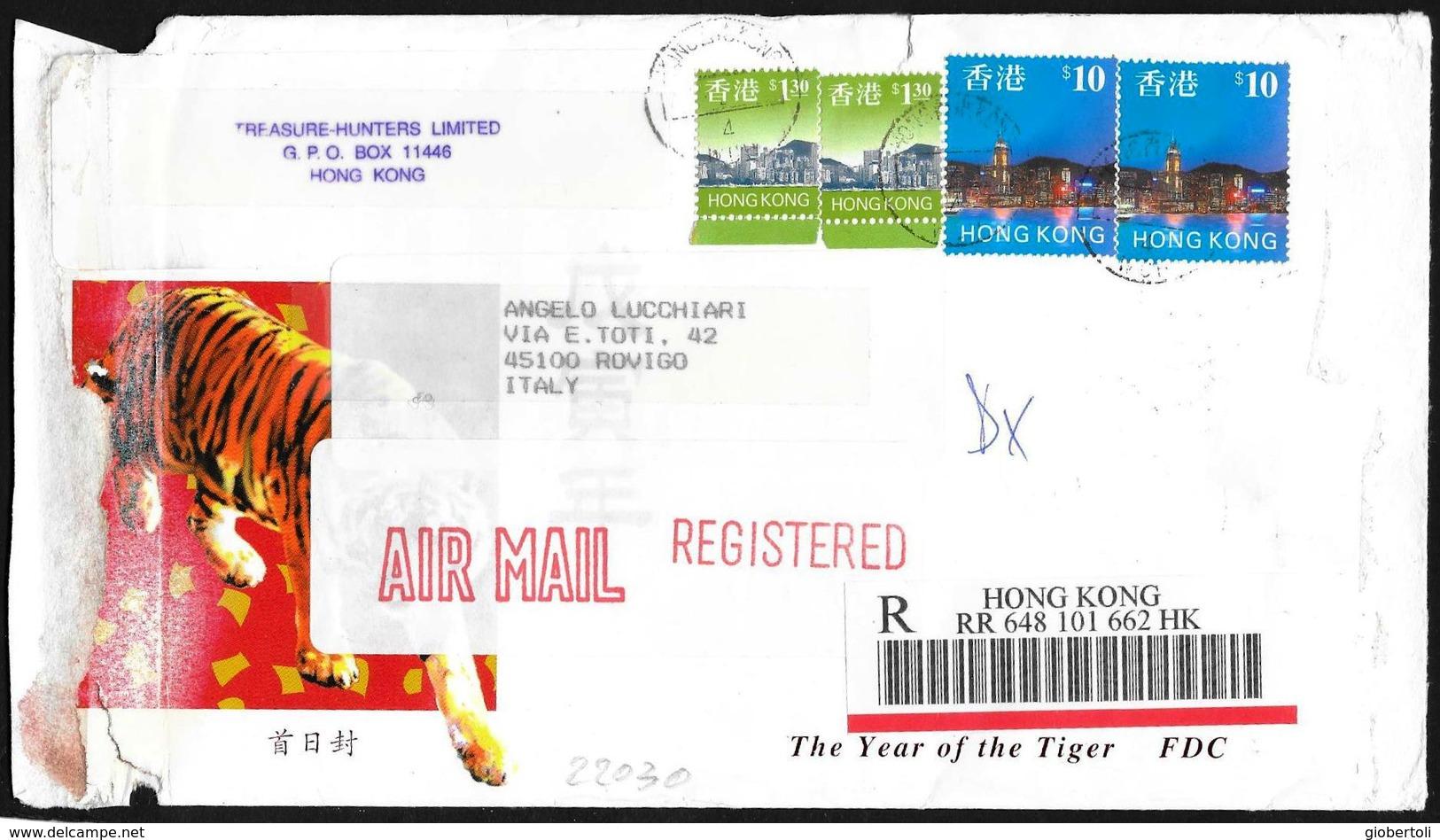 Hong Kong: Raccomandata, Registered, Recommandé - 1997-... Regione Amministrativa Speciale Della Cina