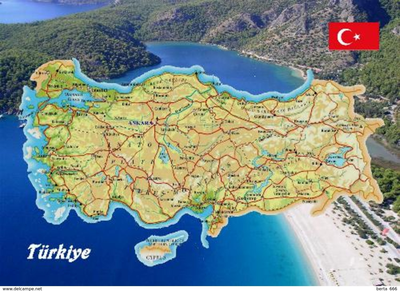 Turkey Map New Postcard - Türkei