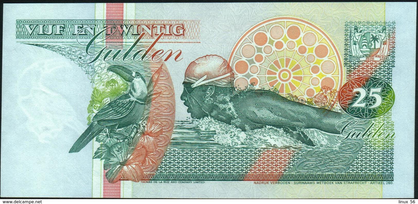 SURINAME - 25 Gulden 01.12.1996 UNC P.138 C - Surinam