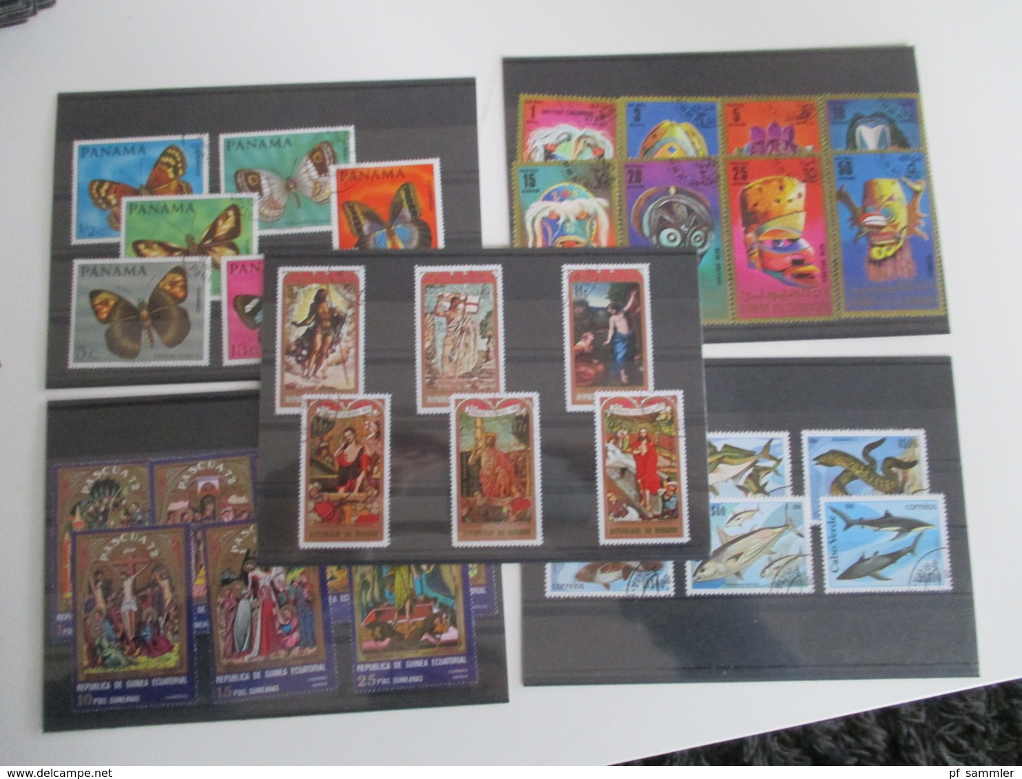 Steckkarten Posten 300 Stk.Europa - Übersee Viel GB / Frankreich Kolonien Mit Afrika Usw. Alt - Neu Mehr Als 3000 Marken - Briefmarken