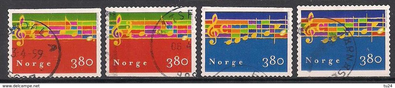 Norwegen  (1998)  Mi.Nr. 1297 + 1298  Gest. / Used  (1ah13) - Norwegen