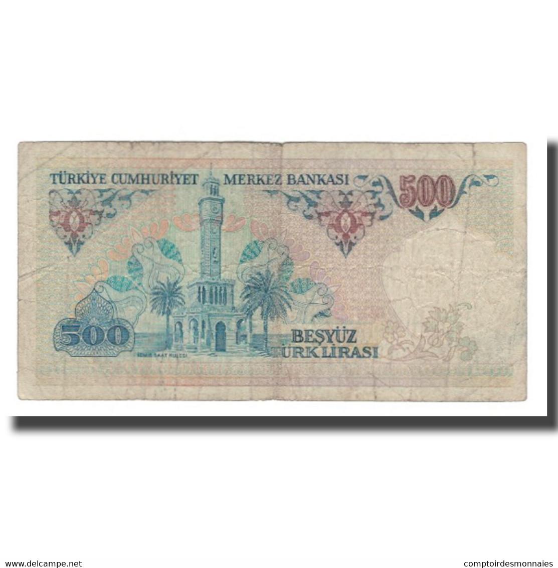 Billet, Turquie, 500 Lira, 1970, 1970-01-14, KM:195, B+ - Turquie