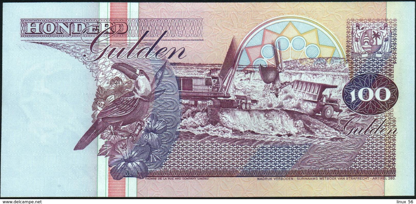 SURINAME - 100 Gulden 10.02.1998 UNC P.139 B - Surinam