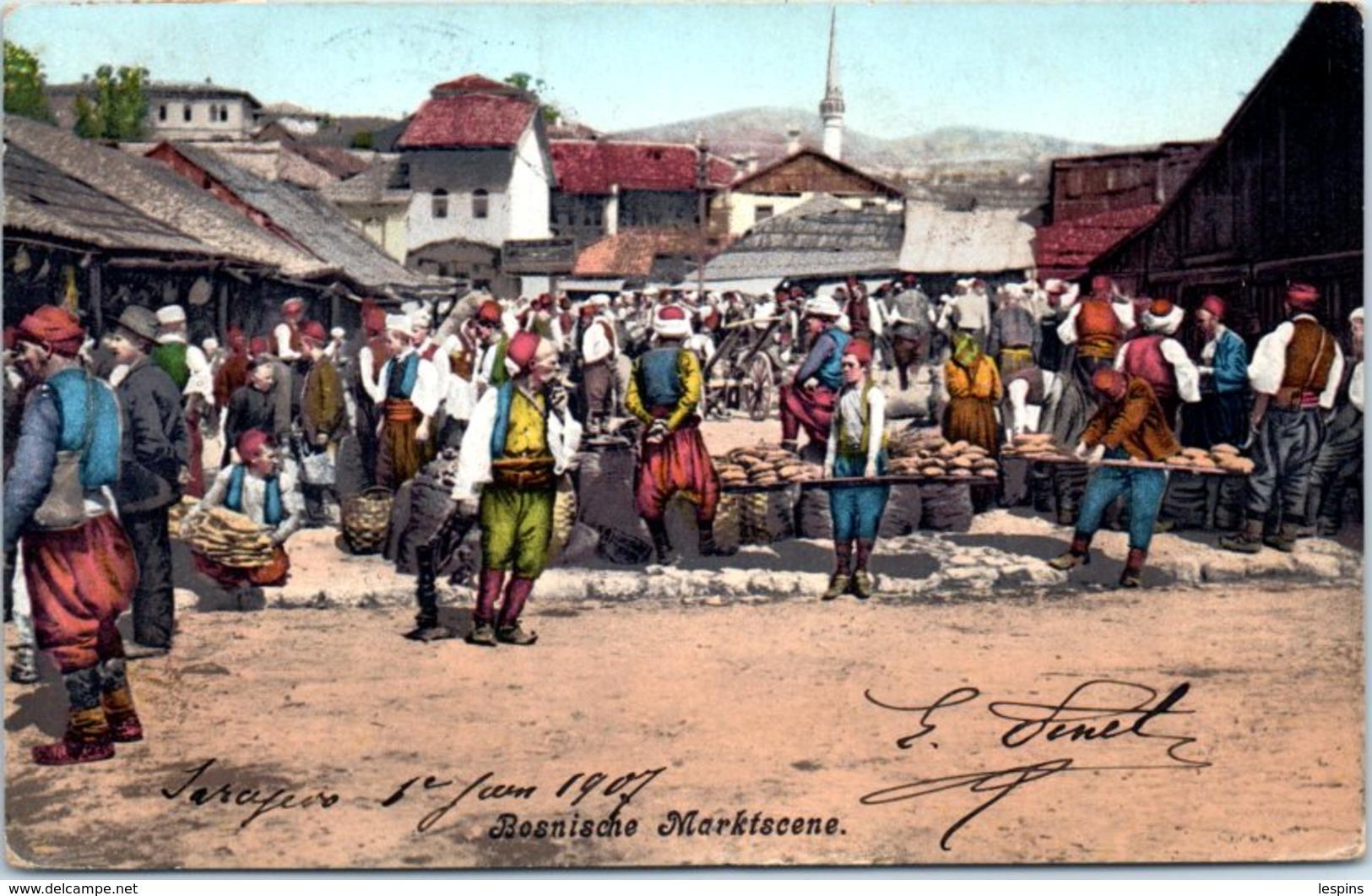 BOSNIE HERZEGOVINE  --  Besnische  Marktscene - état - Bosnie-Herzegovine