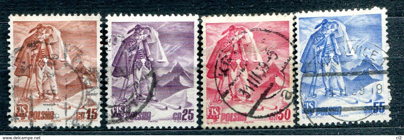 POLOGNE - Y&T 422 à 425 (série Complète) (20% De La Cote) - Used Stamps