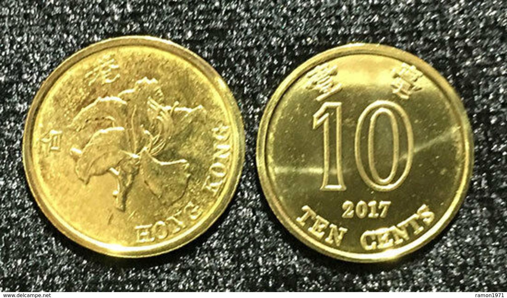 Hong Kong - 10 Cents 2017 UNC Bank Bag - Hong Kong