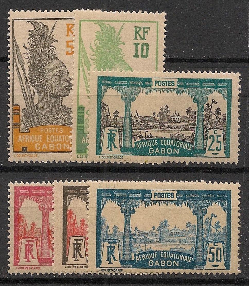 Gabon - 1922 - N°Yv. 82 à 87 - Série Complète - Neuf GC ** / MNH / Postfrisch - Nuovi