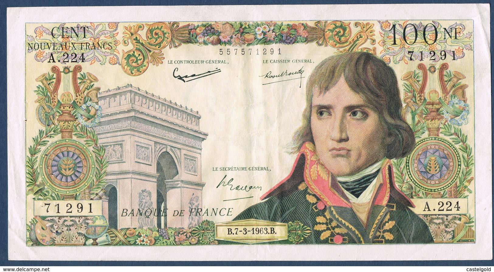FRANCE 100 NOUVEAUX FRANCS BONAPARTE Fayette 59.20 N° 71291 A.224 En TTB - 1959-1966 Nouveaux Francs