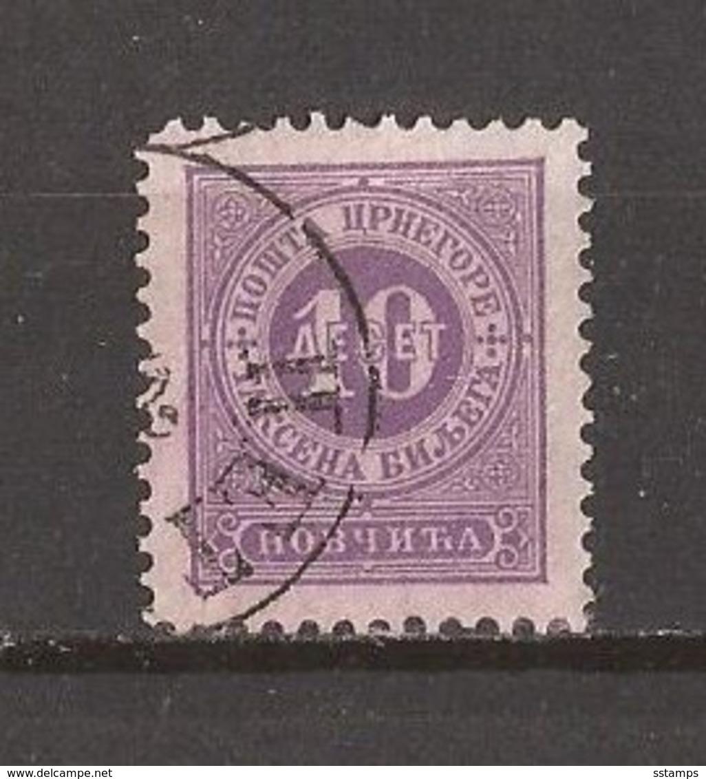1895  5   PORTO  PERF- 11 1-2  MONTENEGRO CRNA GORA ZIFFERN   USED - Montenegro