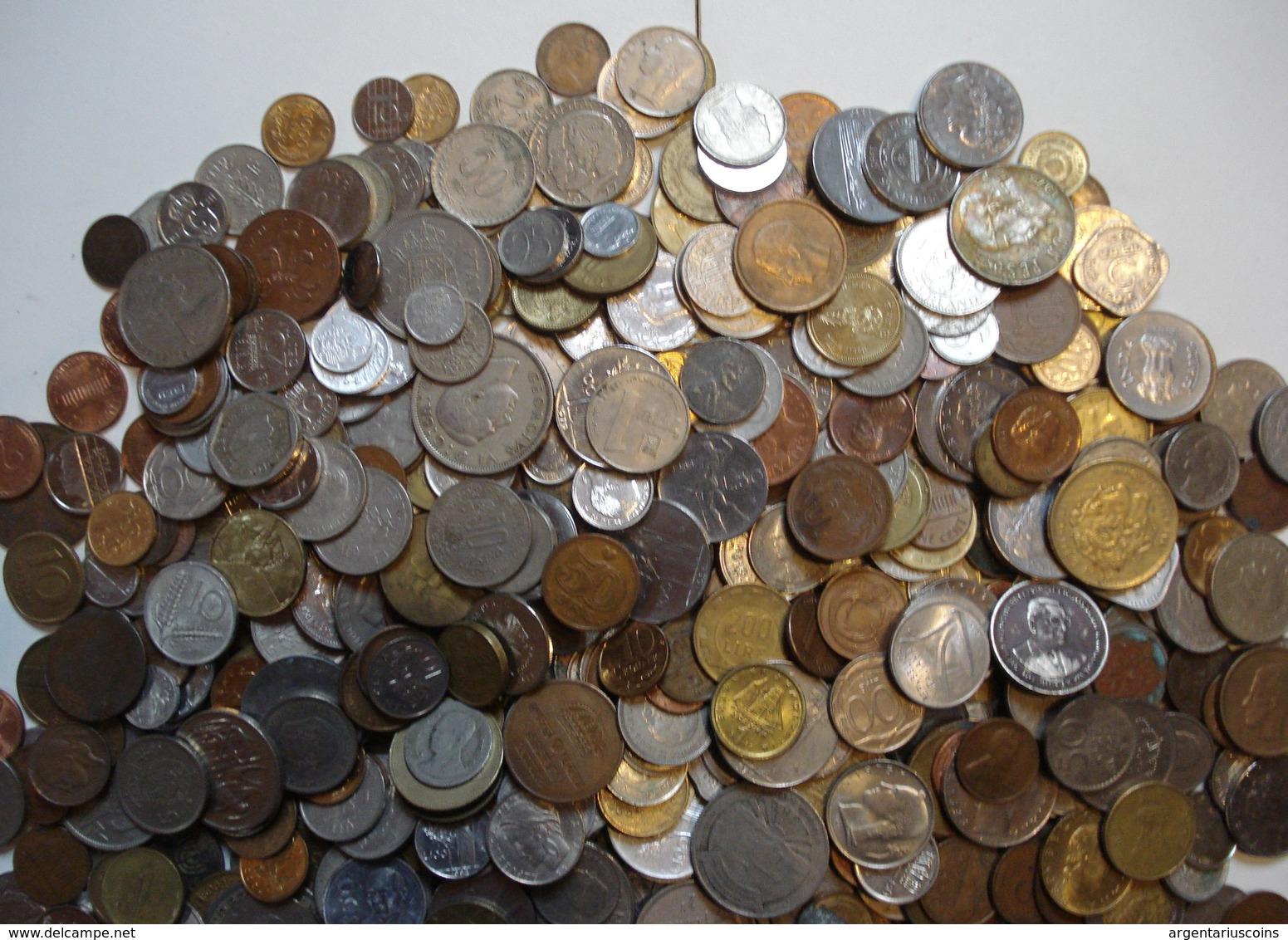 LOT 4 KILOS PIECES DU MONDE. - Monnaies & Billets