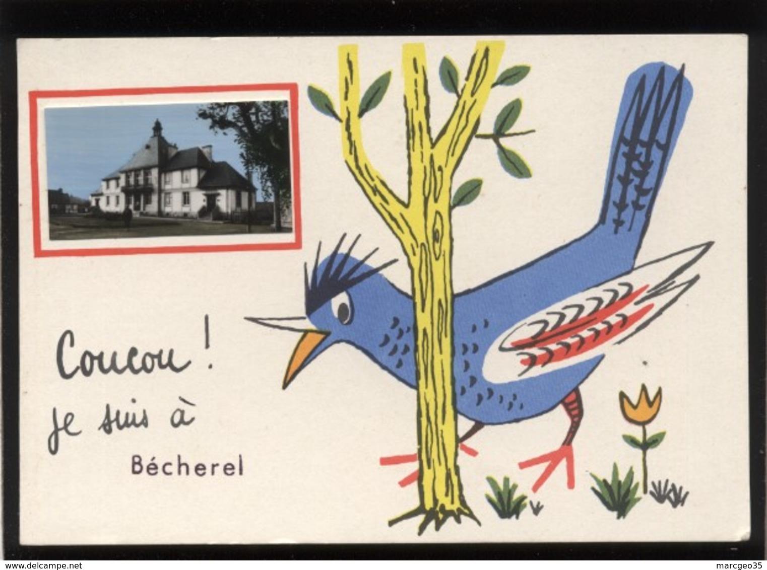 35 Bécherel Coucou Je Suis à Bécherel Mini-vue De La Mairie édit. JP Oiseau - Bécherel