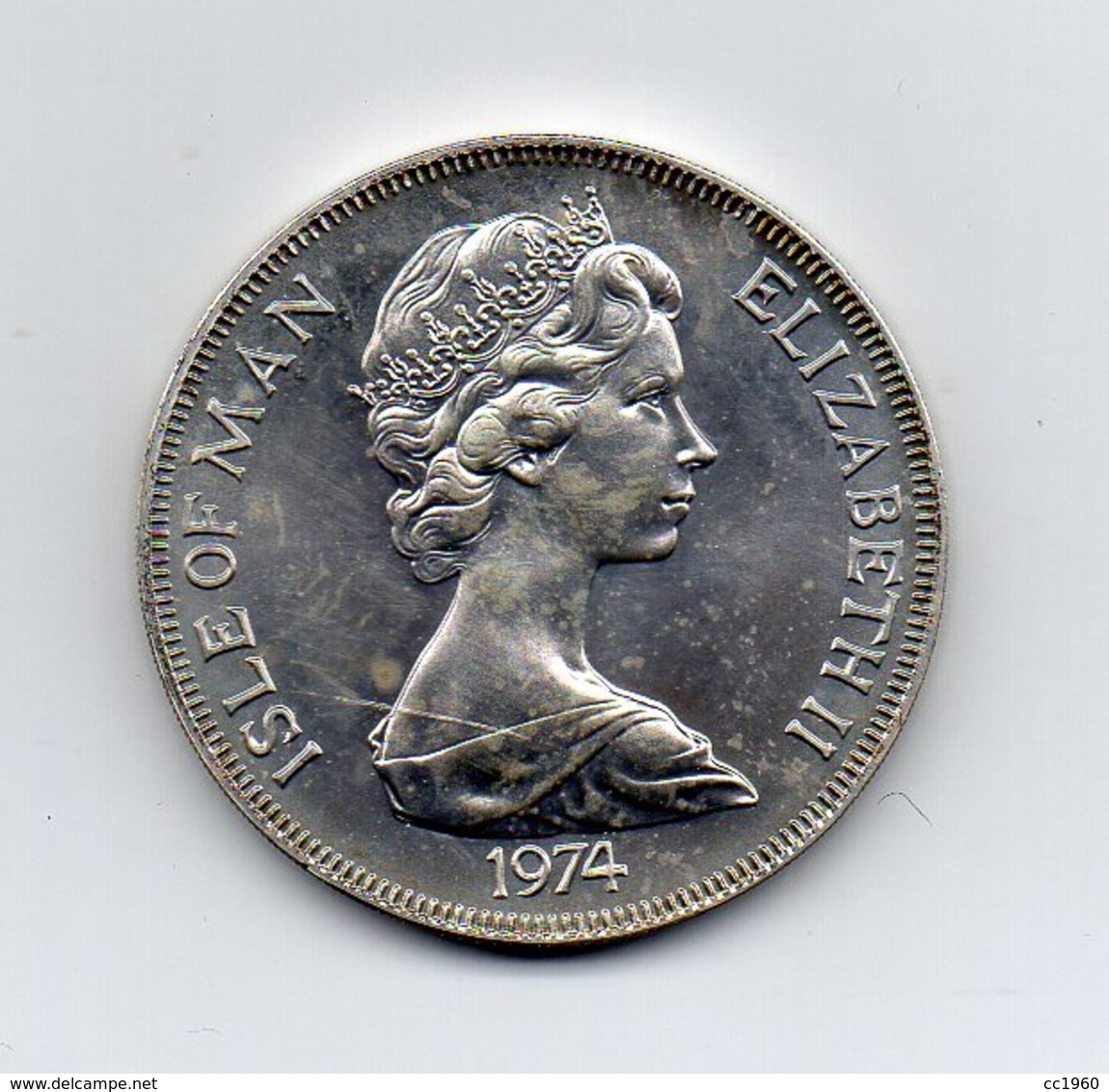 Gran Bretagna - Isola Di Man - 1974 - 1 Crown - Winston Churcill - (Vedi Foto) - (MW2085) - Isle Of Man