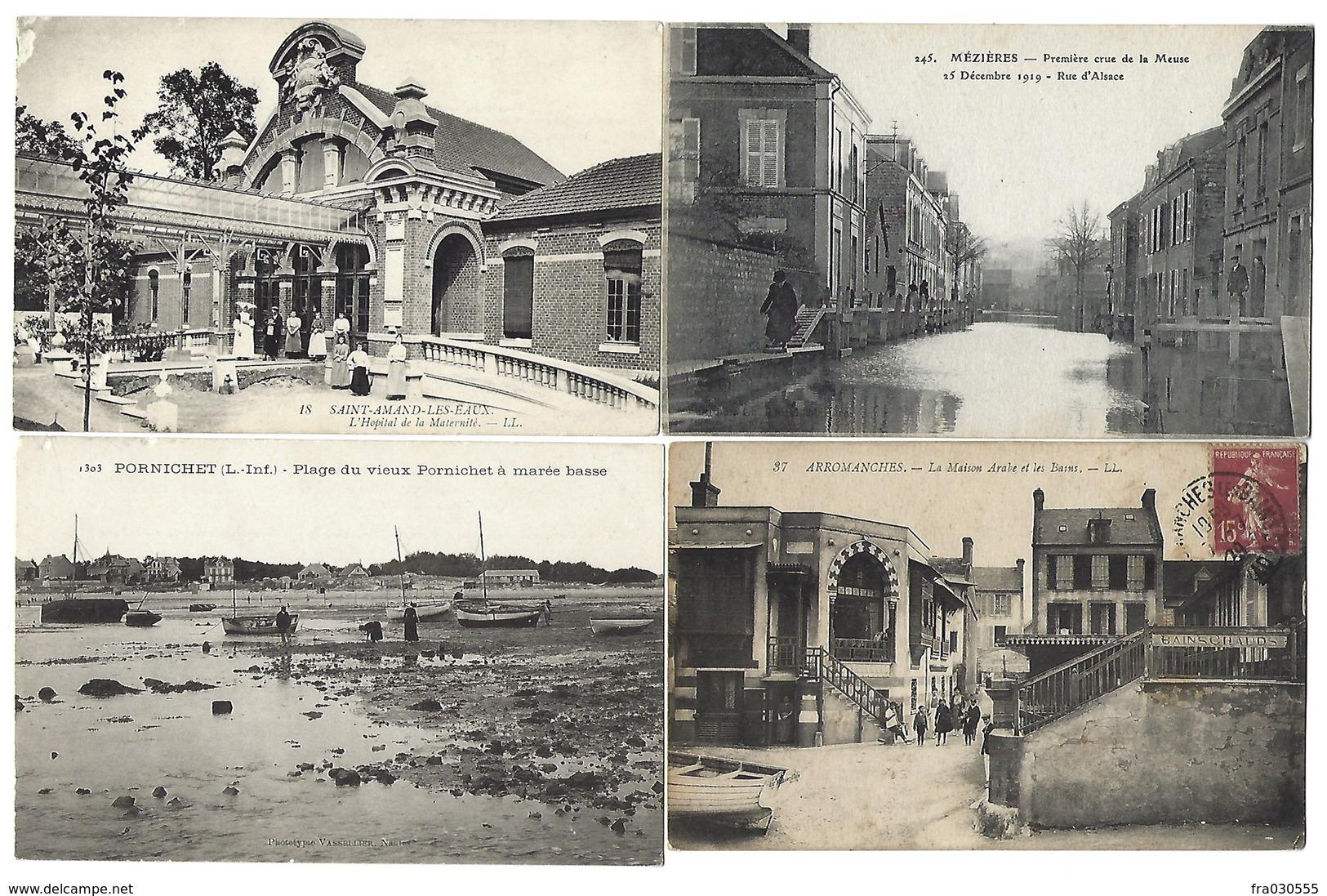 FRANCE - Lot De 42 CPA - 100 % ANIMÉES - Pas De Paris, Nice, Lourdes - Cartes Postales