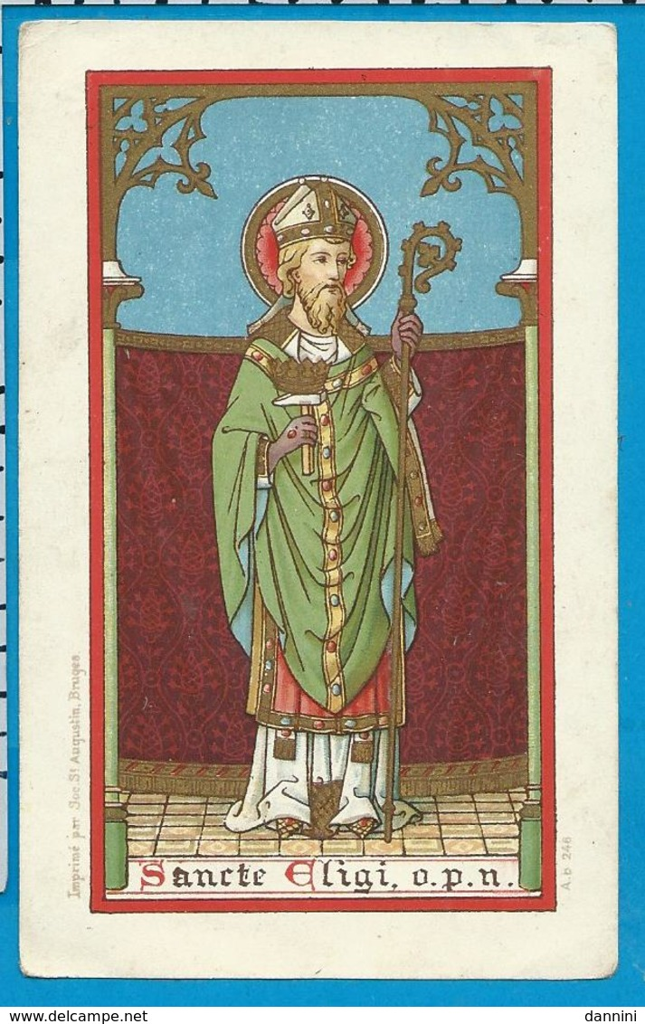 Holycard    St. Augustin    246   St. Eligius - Devotion Images
