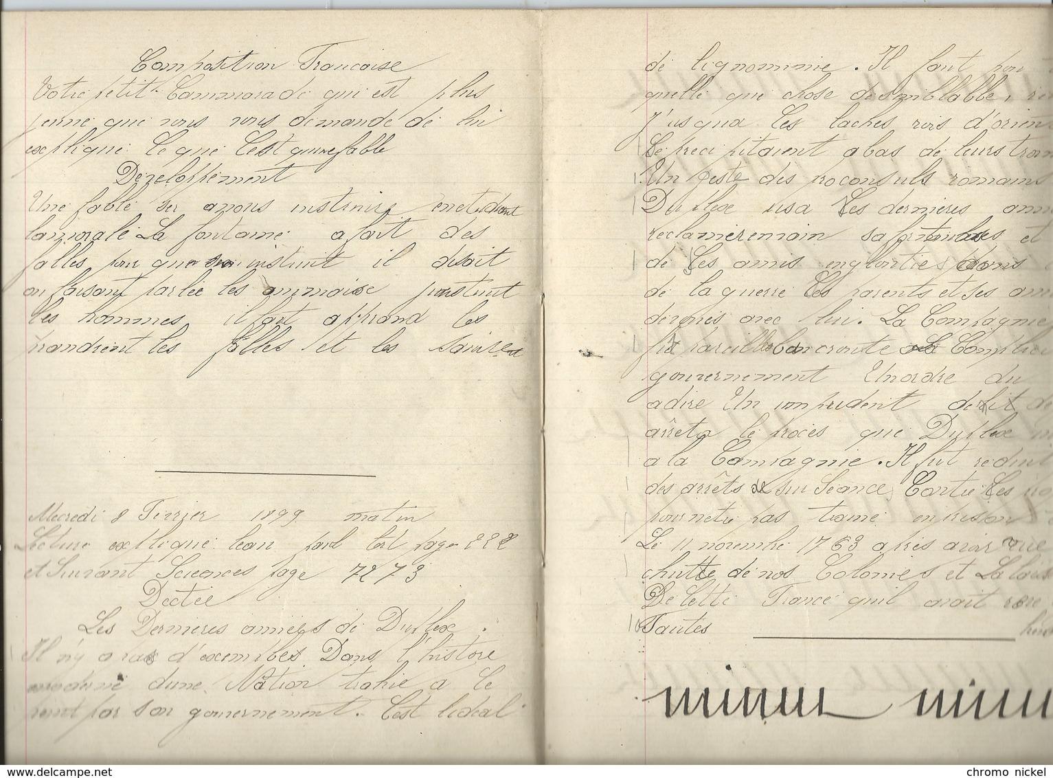1899 ENGRAIS Cahier Complet Couverture Protège-cahier +/- 1900 3 Scans - Protège-cahiers