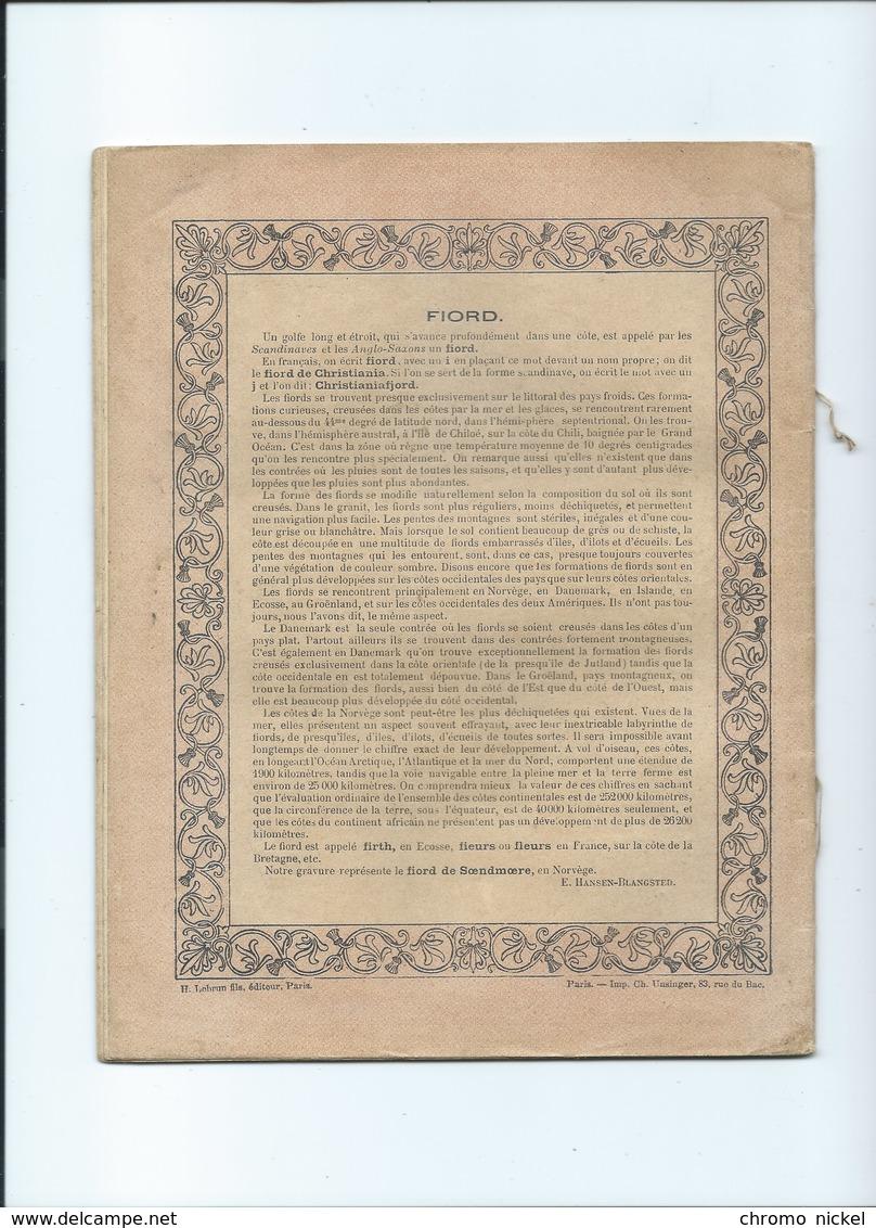 Fjord Fiord Scandinavie Cahier Complet Couverture Protège-cahier +/- 1900 3 Scans - Protège-cahiers