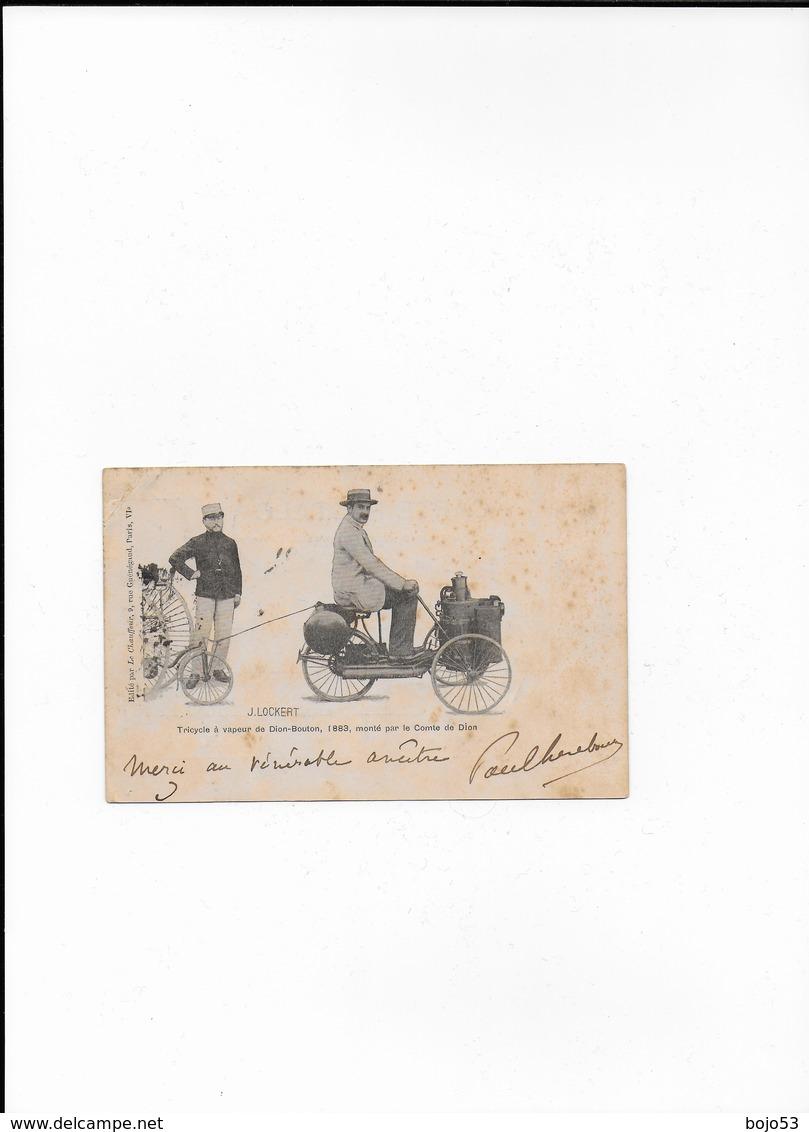 FRANCE  Tricycle à Vapeur De Dion-Bouton 1883 Monté Par Le Comte De Dion - France