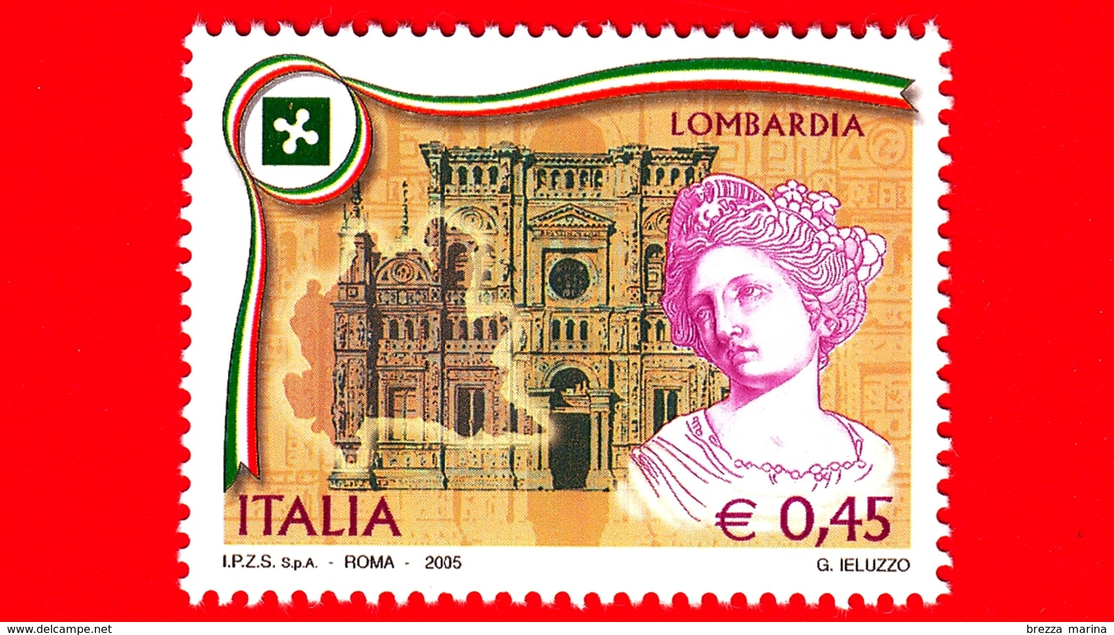 Nuovo - MNH - ITALIA - 2005 - Regioni D'Italia - Lombardia - 0,45 - 6. 1946-.. República