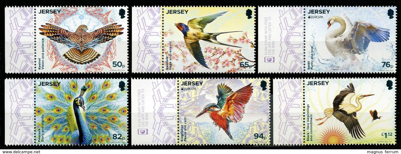 2019 Jersey, Europa, CEPT, Fauna, National Birds, 6 Stamps, MNH - Other