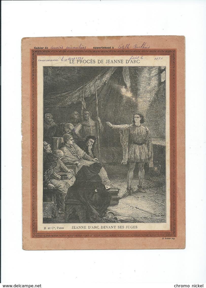 Jeanne D'Arc Devant Ses Juges 21/02/1431 Bien Protège-cahier Couverture   225 X 170  3 Scans  H Et Cie - Protège-cahiers