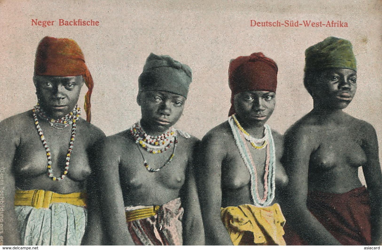 Deutsch Sudwest Afrika Neger Backfische Young Nude Girls Niggers  Edit Franz Spenker Hamburg - Namibie