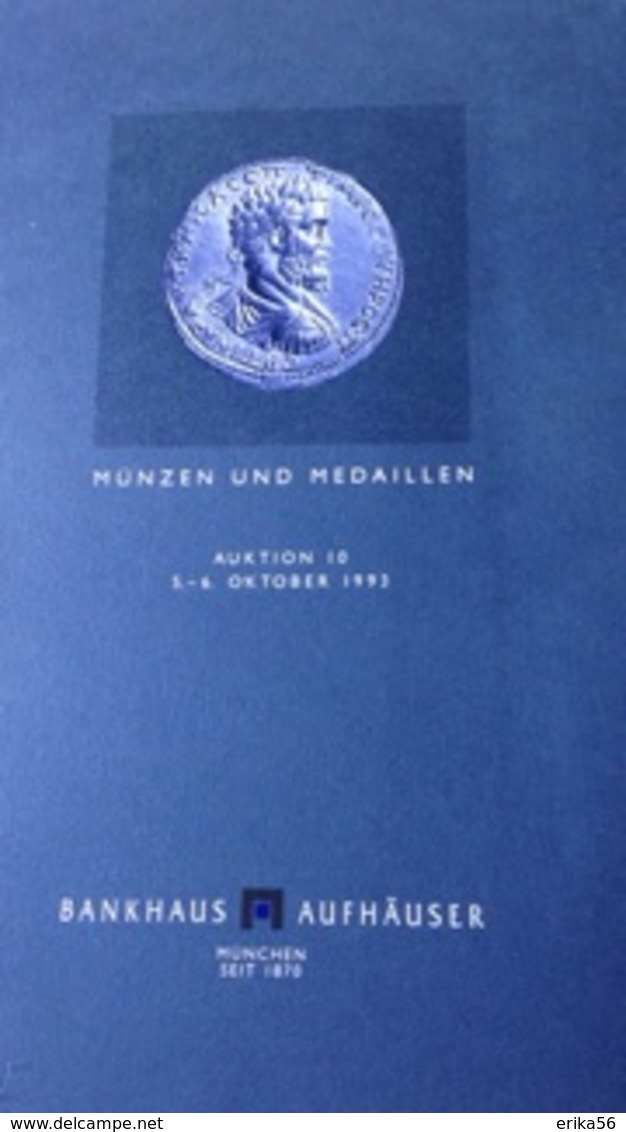 MUNZEN  UND  MEDAILLEN AUKTION 10 - MUNCHEN  1993 - Allemand